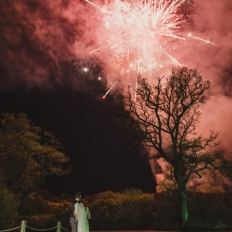 Honeymoon-Suit-Fireworks-At-Oldwalls-Gower-Wedding-Venue-South-Wales