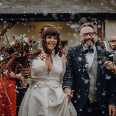 Leah-and-Rhys-Winter-Wedding-Confetti-Shot-At-Oldwalls-Gower
