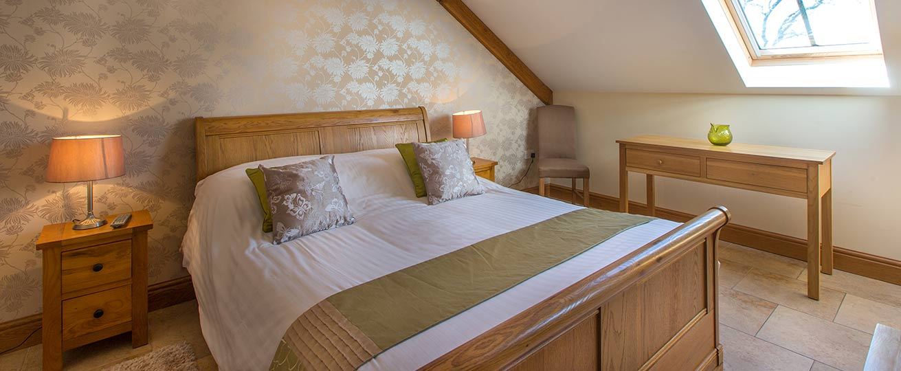 This image shows the luxury accommodation available at our luxury wedding venue in South Wales