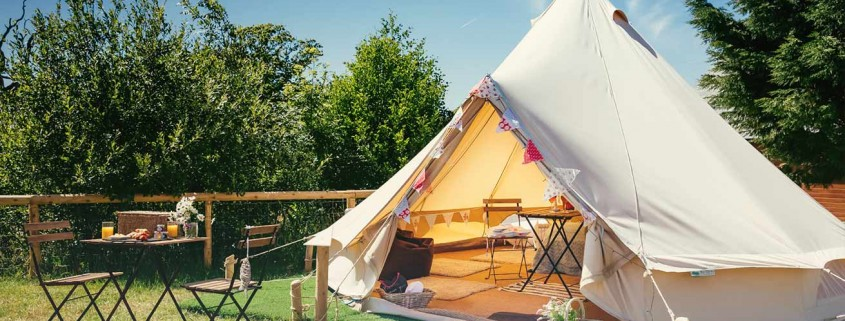 This is the Glamping village at our South Wales wedding venue