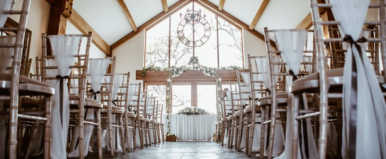 This is an image of the Oakroom, the room within our wedding venue where civil ceremonies can take place.