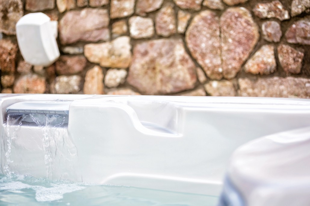 The Gower Retreat luxury hot tub for bridal accommodation at Oldwalls Gower