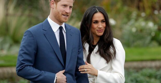 An image of Prince Harry and Meghan Markle.