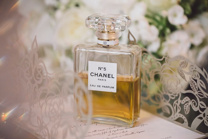 Bottle of Chanel perfume