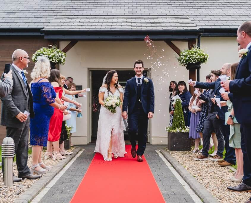 Socially distant wedding at Oldwalls Gower