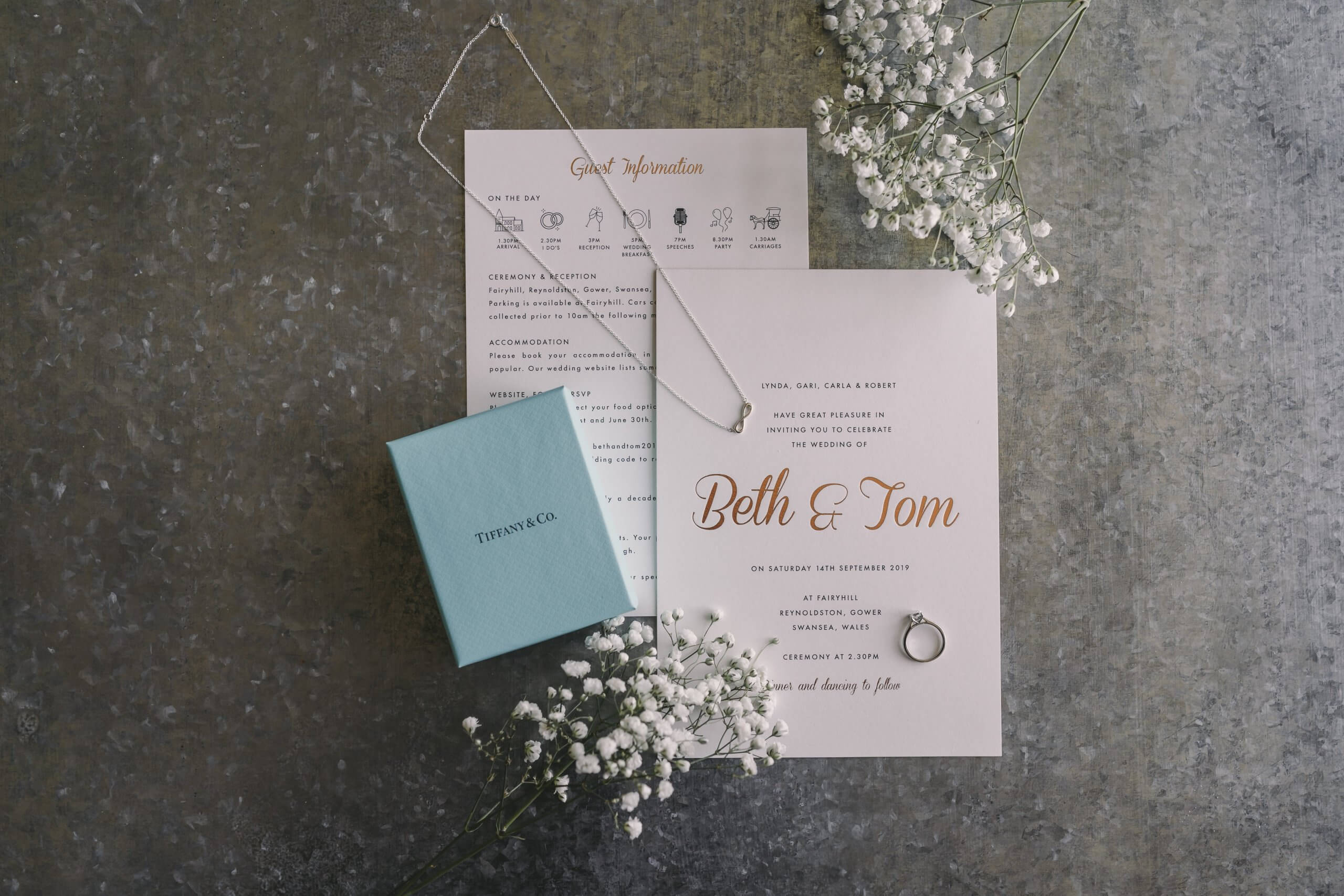 Fairyhill wedding invite