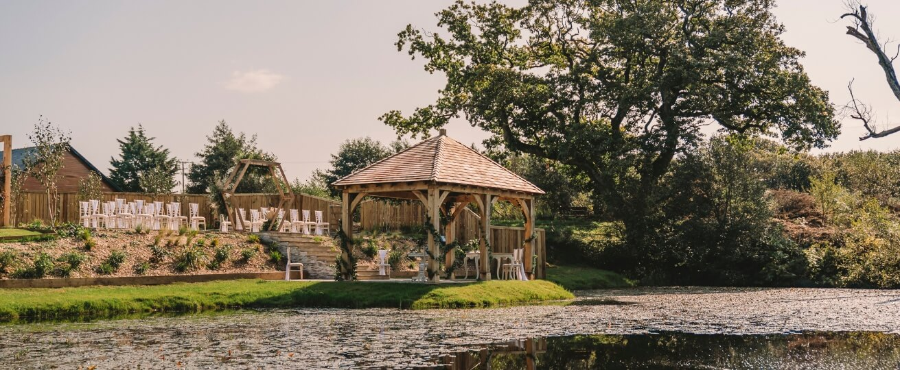 This image shows a bride in our Luxurious wedding grounds in South Wales